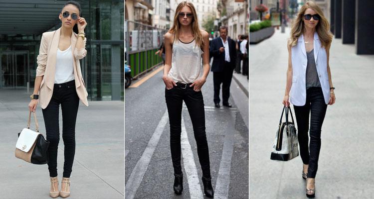 с чем носить джинсы скинни